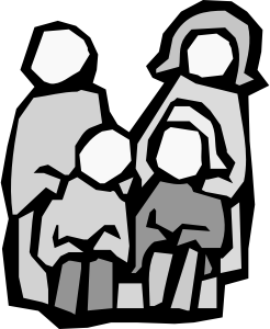 (Image is open access) https://openclipart.org/detail/46357/family-by-greggrossmeier